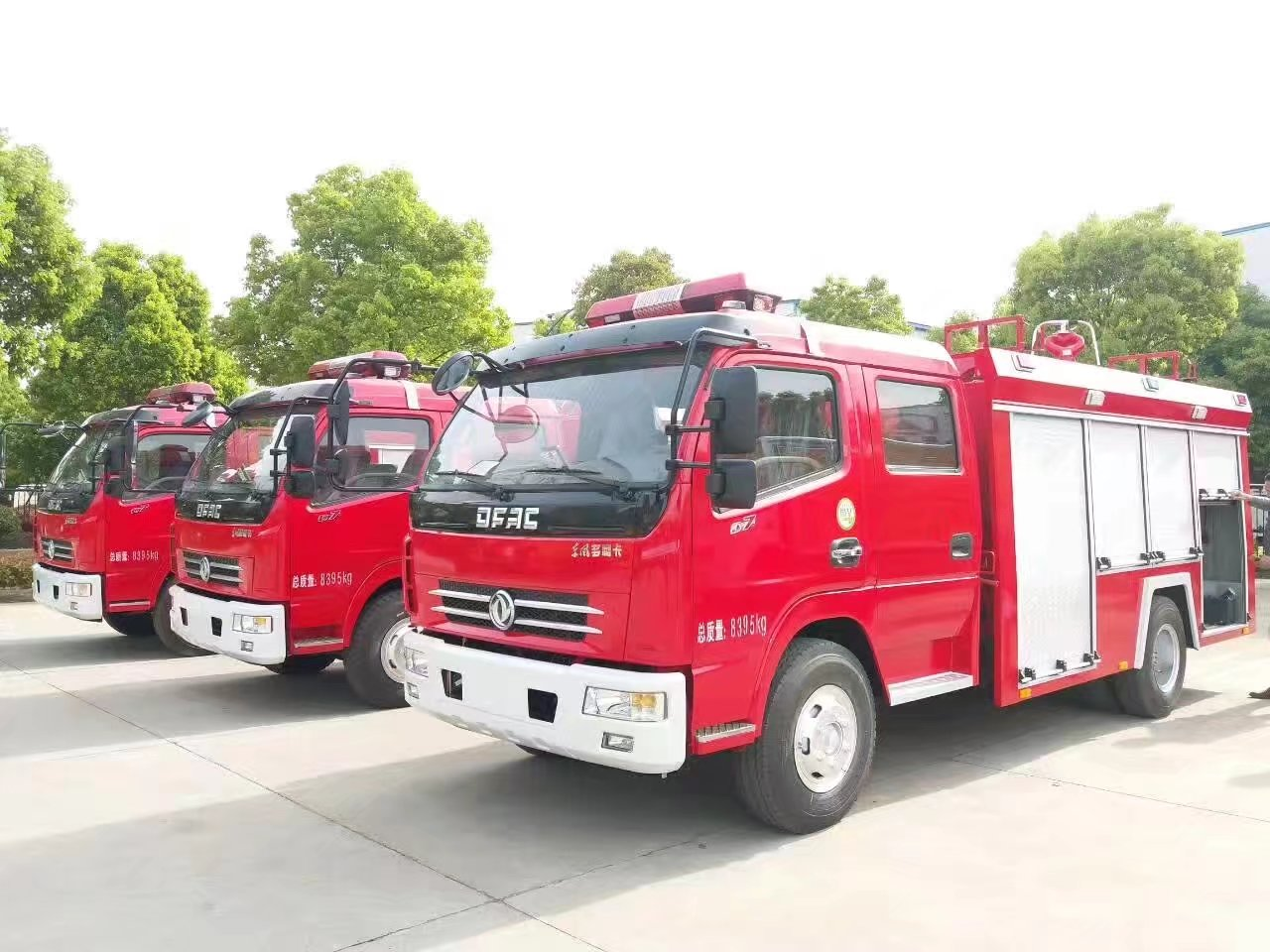 Dong Feng 4x2 2 Ton Dry Powder Fire Fighting Truck