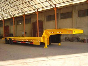 China 3 Axles Front Loading Hydraulic Gooseneck Detachable 100tons Low Bed Semi Trailer /lowboy Trailer for Sale