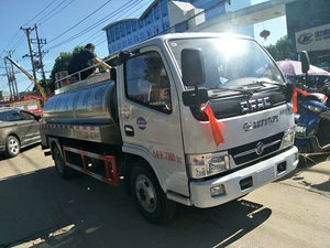 Dongfeng milk transport tank truck 8000 liters stainsteel milk tanker truck for sale