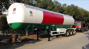 China Manufacturer 3 Axles Lpg Cooking Gas Transport Tank Semi Trailer