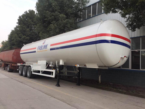 Large LPG Propane Tanker 3 Axles 60m3 Semi Trailer for Sale