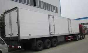 3 axles Refrigerated Van 40FT Reefer 30tons cargo Semi Trailer