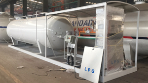 30ton 60000liters Filling Scale LPG Filling Plant LPG Skid Station for Africa
