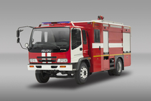 Japan Brand 4X2 6m3 Water Tank Fire Fighting Truck